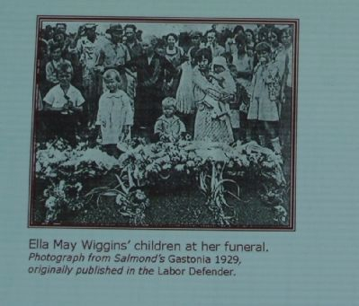 Ella Mae Wiggins' children at her funeral. image. Click for full size.