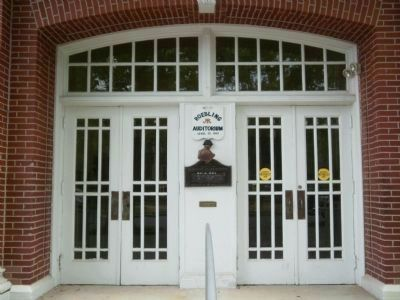 Roebling Auditorium entrance image. Click for full size.