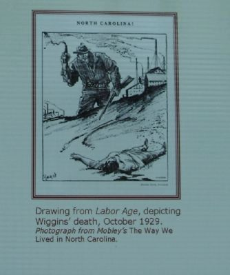 Drawing from Labor Age, depicting Wiggins' death, October 1929. image. Click for full size.