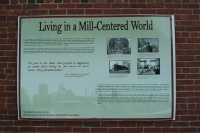 Living in a Mill-Centered World Marker image. Click for full size.