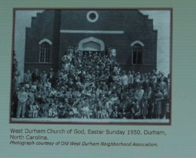 West Durham Church Of God, Easter Sunday, 1950. image. Click for full size.