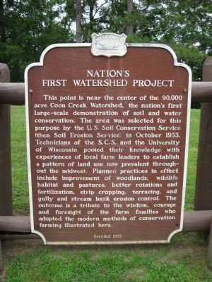 Nation's First Watershed Project Marker image. Click for full size.