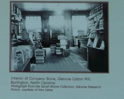 Interior of the Company Store, Glencoe Cotton Mill, Burlington, North Carolina image. Click for full size.