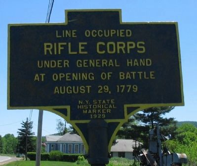 Line Occupied - Rifle Corps Marker image. Click for full size.