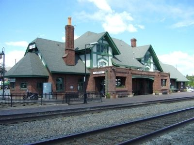 The historic Santa Fe passenger train depot image. Click for full size.