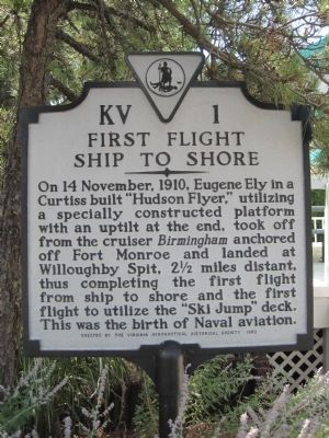First Flight Ship to Shore Marker image. Click for full size.