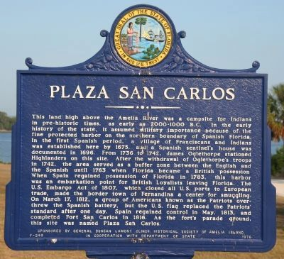 Plaza San Carlos Marker image. Click for full size.