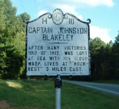 Captain Johnston Blakeley Marker image. Click for full size.