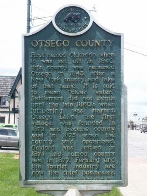 Otsego County Marker image. Click for full size.