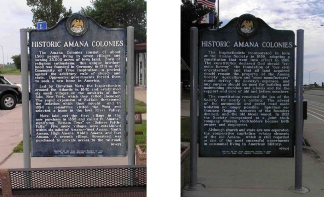 Historic Amana Colonies Marker image. Click for full size.