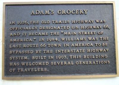 Adam's Grocery Marker image. Click for full size.