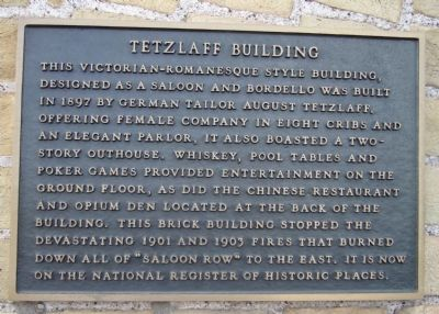 Tetzlaff Building Marker image. Click for full size.