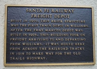 Santa Fe Railway Freight Depot Marker image. Click for full size.