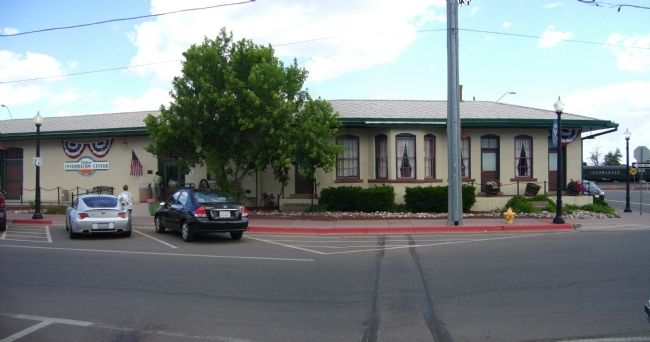 Santa Fe Railway Freight Depot image. Click for full size.