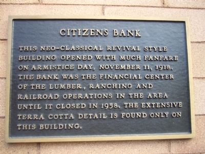 Citizens Bank Marker image. Click for full size.