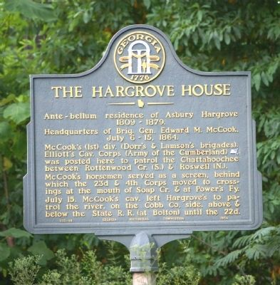 The Hargrove House Marker image. Click for full size.