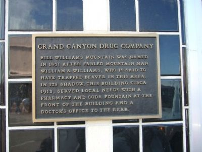 Grand Canyon Drug Company Marker image. Click for full size.