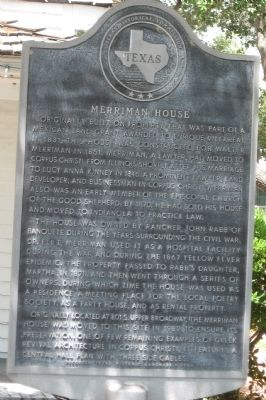 Merriman House Marker image. Click for full size.
