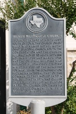 Heath Methodist Church Marker image. Click for full size.