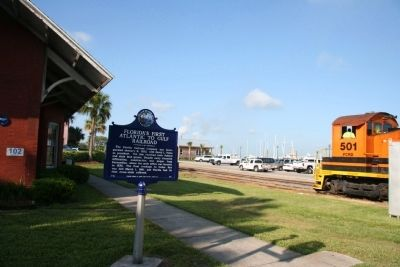 Florida's First Atlantic to Gulf Railroad Marker image. Click for full size.