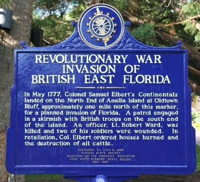 Revolutionary War Invasion of British East Florida Marker image. Click for full size.