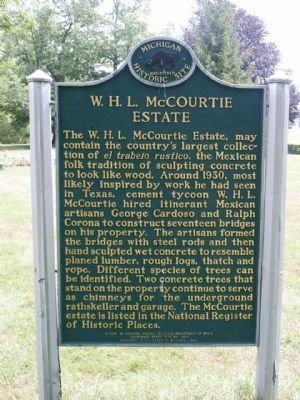 W. H. L. McCourtie Estate Marker (back side) image. Click for full size.