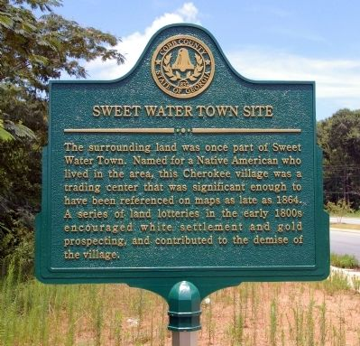 Sweet Water Town Site Marker image. Click for full size.
