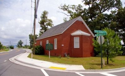 Collins Springs Primitive Baptist Church and Marker image. Click for full size.