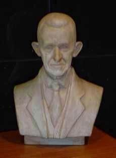 Bust of Alexander S. Salley: A. Wolfe Davidson sculptor image. Click for full size.