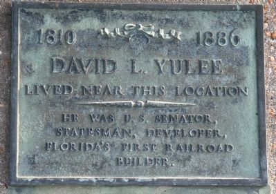 David L. Yulee Marker image. Click for full size.