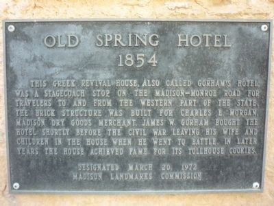 Old Spring Hotel Marker image. Click for full size.
