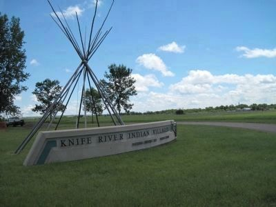 Knife River Indian Villages Entrance image. Click for full size.