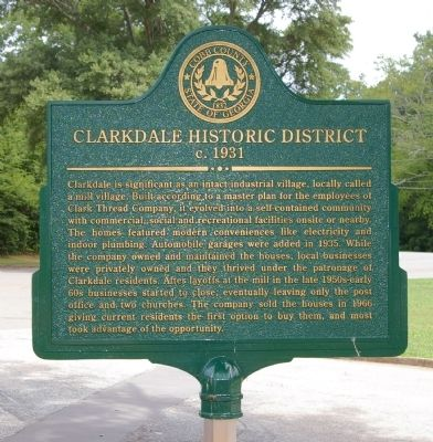 Clarkdale Historic District Marker image. Click for full size.