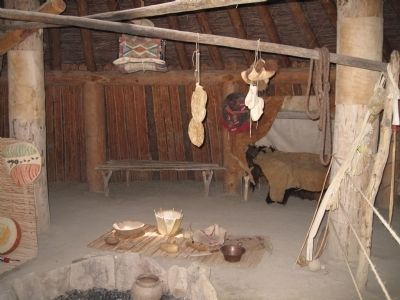Earthlodge Cooking Area image. Click for full size.