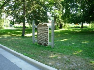 Delavan's Circus Colony Marker image. Click for full size.