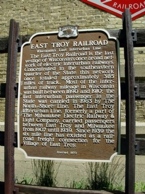 East Troy Railroad Marker image. Click for full size.