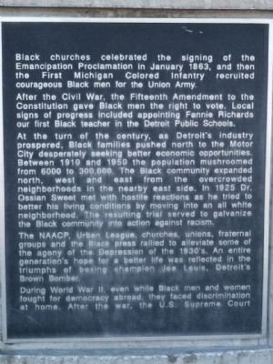The Black Presence in Detroit Marker - Panel 2 image. Click for full size.