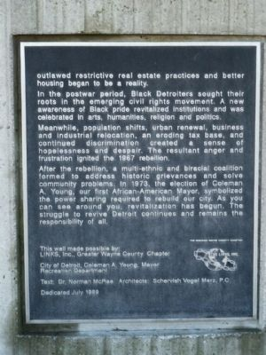 The Black Presence in Detroit Marker - Panel 3 image. Click for full size.