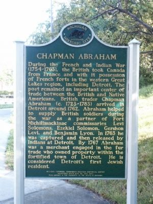 Chapman Abraham Marker image. Click for full size.