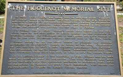The Huguenot Memorial Site Marker image. Click for full size.