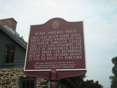 Henry Doremus House Marker image. Click for full size.
