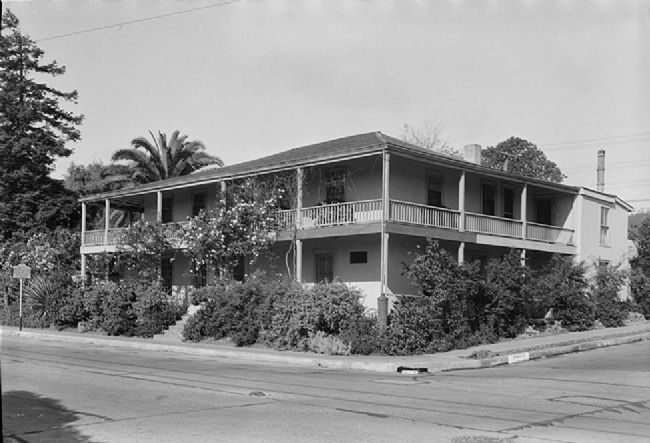 The Larkin House in 1936 - image courtesy Historic American Buildings Survey image. Click for full size.