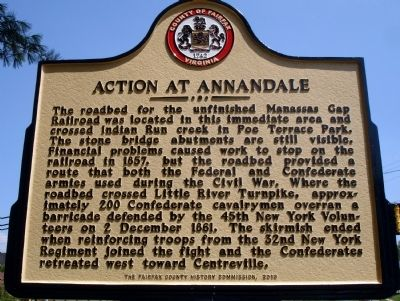 Action At Annandale Marker image. Click for full size.