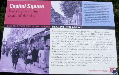Capitol Square has long been the heart of the city Marker image. Click for full size.