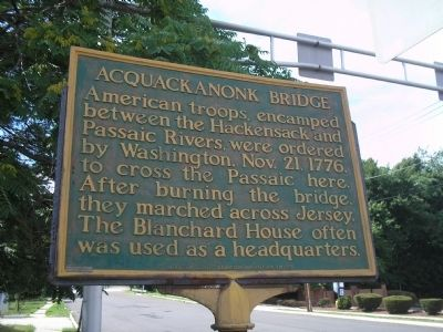 Acquackanonk Bridge Marker image. Click for full size.