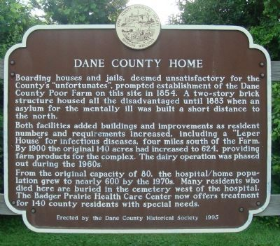 Dane County Home Marker image. Click for full size.