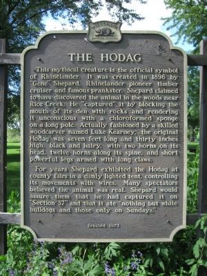 The Hodag Marker image. Click for full size.