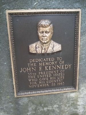 John F. Kennedy Marker image. Click for full size.