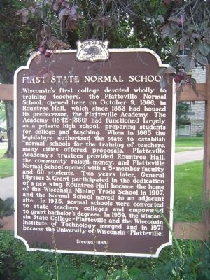 First State Normal School Marker image. Click for full size.