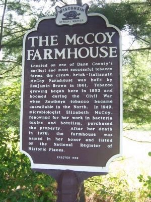The McCoy Farmhouse Marker image. Click for full size.